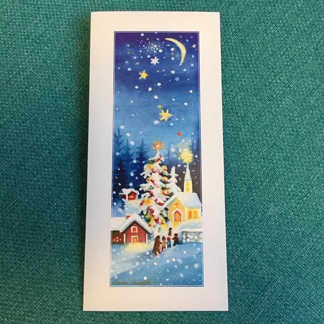 Kortti joulukirkkoon, original Maikki Parkkila