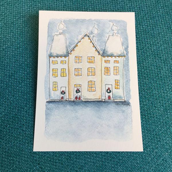Postikortti Joulukatu, original Sari Haapa