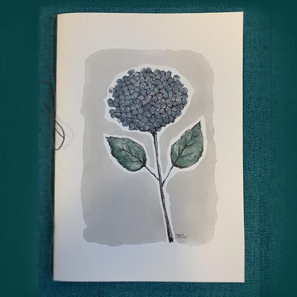 Onnitteluadressi 'Sininen hortensia'