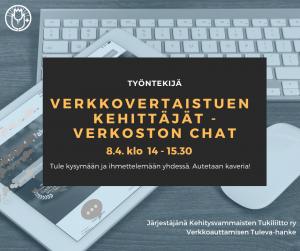 Verkkovertaistuen kehittäjät -verkoston chat 8.4. klo 14-15.30