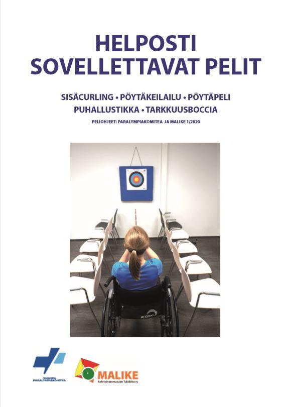 Peliohjeiden kansilehden kuva.
