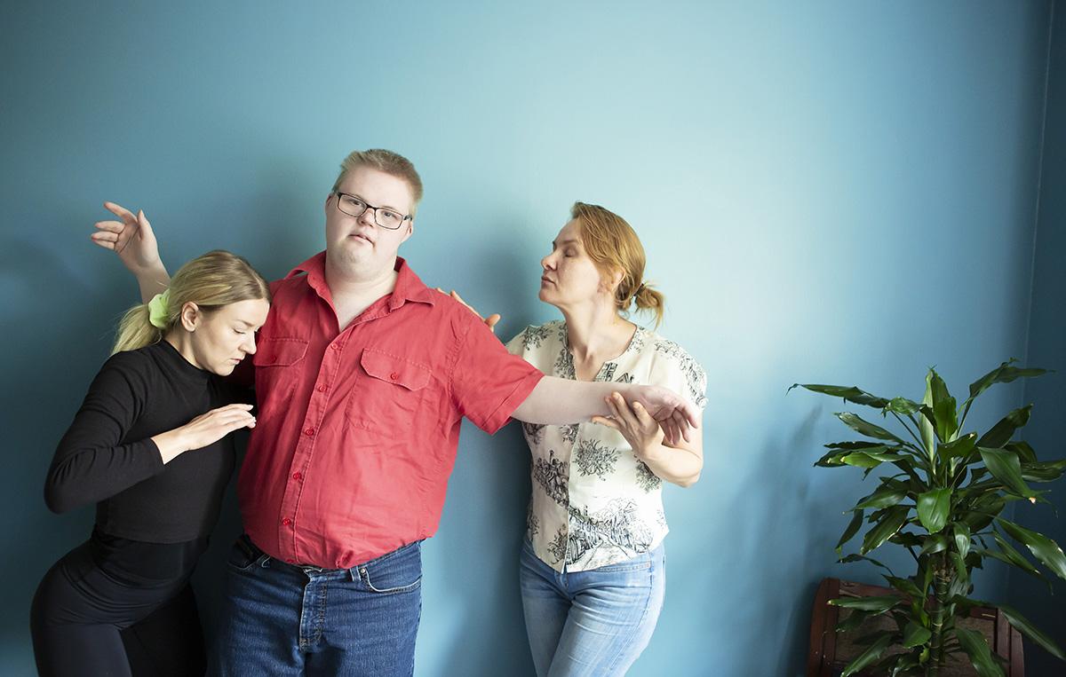 Anna-Maria Vänskä, Juuso Pakarinen ja Johanna Rossi