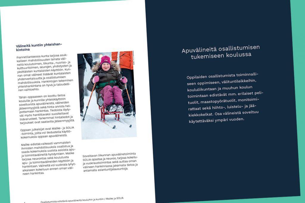 Aukeamalla on kuvia toimintavälineistä ja esittelytekstejä
