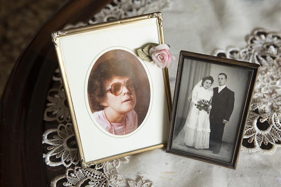 hääkuva ja vanha valokuva Sinikasta