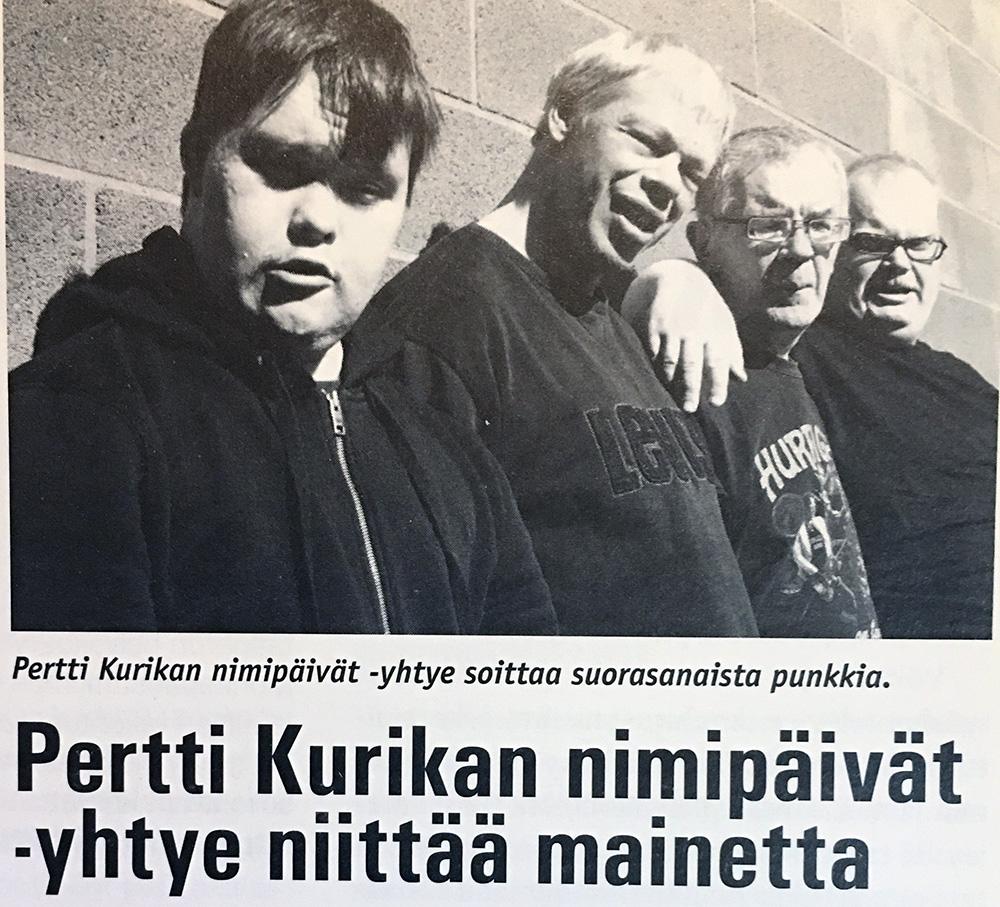 vanha lehtileike Pertti Kurikan NImipäivistä nuorena